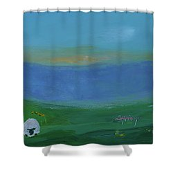 Sheep In The Meadow Shower Curtain