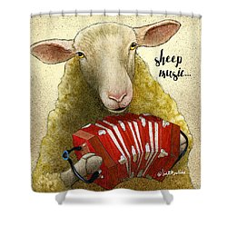 Sheep Music... Shower Curtain by Will Bullas