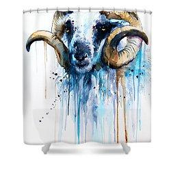 Sheep Shower Curtain by Slavi Aladjova