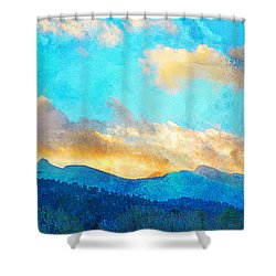 Sheeps Head And Truchas Peaks-predawn December Shower Curtain