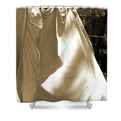 Sheets On The Line Shower Curtain