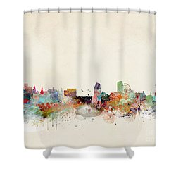 Shower Curtain featuring the painting Sheffield City Skyline by Bri B