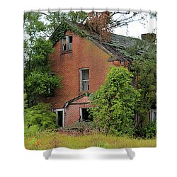 Sheffield House Panorama Shower Curtain by Bonfire Photography