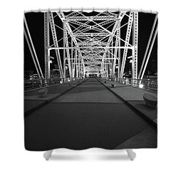 Shelby Bridge Bw Shower Curtain