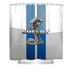 Shelby Cobra - 3d Badge Shower Curtain