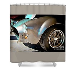 Shelby Cobra Abstract Shower Curtain