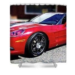 Shelby Corvette Shower Curtain