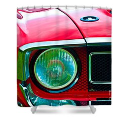 Red Shelby Mustang Shower Curtain