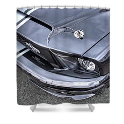 Shelby Super Snake At The Ace Cafe London Shower Curtain by Gill Billington