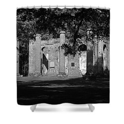 Sheldon Church 7 Bw Shower Curtain
