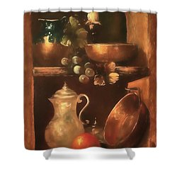 Shower Curtain featuring the photograph Shelf Life 2 by Donna Kennedy