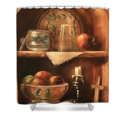 Shower Curtain featuring the photograph Shelf Life by Donna Kennedy