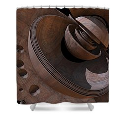 Shower Curtain featuring the digital art Shell Game by Lyle Hatch