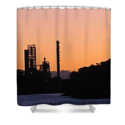 Shell Oil At Sunset Shower Curtain