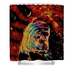 Shell Space Shower Curtain