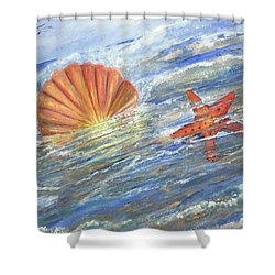 Shell Star  Shower Curtain