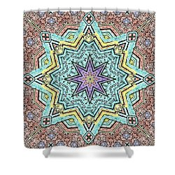 Shell Star Mandala Shower Curtain by Deborah Smith