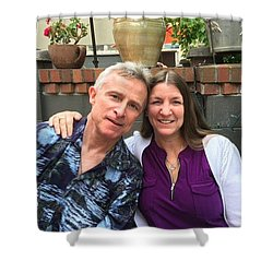 Shellie And Allen Shower Curtain