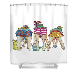 Shelling Without Inhibition Shower Curtain