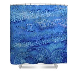 Shower Curtain featuring the painting Shells Galore by Mary Sullivan