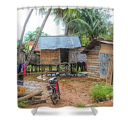 Shelter Home Cambodia Siem Reap I Shower Curtain