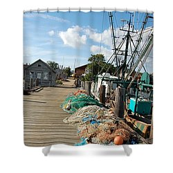 Shower Curtain featuring the photograph Shelter Island by Frank Stallone