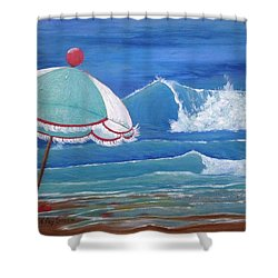 Sheltered Waves Shower Curtain