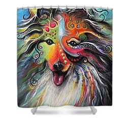 Sheltie  Shower Curtain by Patricia Lintner