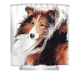 Sheltie Shower Curtain