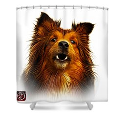 Sheltie Dog Art 0207 - Wb Shower Curtain