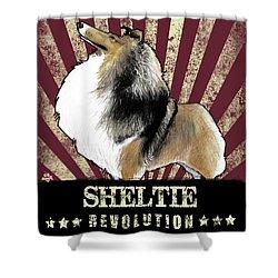 Sheltie Revolution Shower Curtain