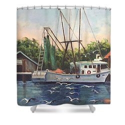 Shem Creek  Shower Curtain