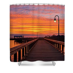 Shem Creek Pier Shower Curtain