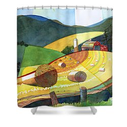 Shenandoah Haystacks Shower Curtain