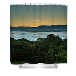 Shenandoah Sunrise Pre-dawn Glow Shower Curtain