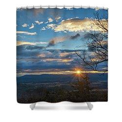 Shenandoah Valley January Sunrise Shower Curtain