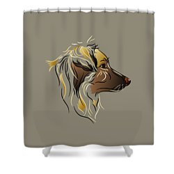 Shower Curtain featuring the digital art Shepherd Dog In Profile by MM Anderson