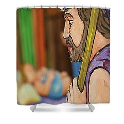 Shepherd Shower Curtain by Gaspar Avila