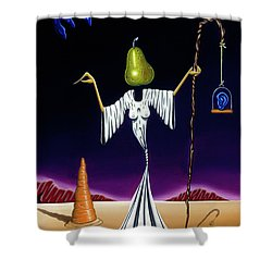 Shower Curtain featuring the painting Shepherd Moon by Paxton Mobley