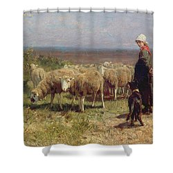 Shepherdess Shower Curtain by Anton Mauve