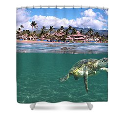 Sheraton Maui Shower Curtain by James Roemmling