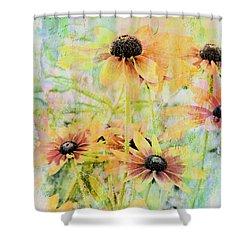 Sherbet Flowers Shower Curtain