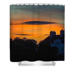 Shower Curtain featuring the photograph Sherbet Sky Sunset by Glenn Feron