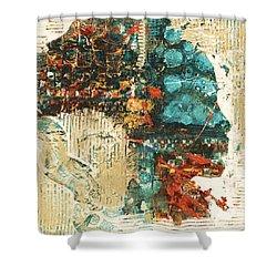 Shower Curtain featuring the painting Shestrak by Alga Washington