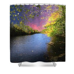 Shetucket River Ct. Shower Curtain
