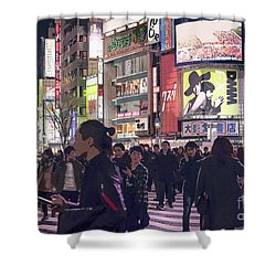 Shibuya Crossing, Tokyo Japan Poster 3 Shower Curtain