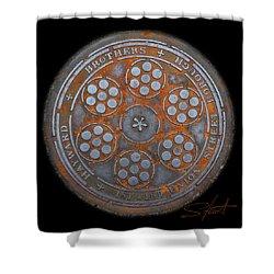 Shield 2 Shower Curtain by Charles Stuart