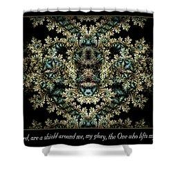 Shield Around Me Shower Curtain