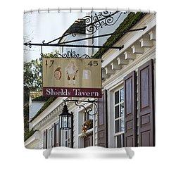 Shields Tavern Sign Shower Curtain