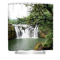 Shower Curtain featuring the photograph Shifen Waterfall  by Hanza Turgul